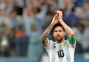 アルゼンチン代表メッシの写真
