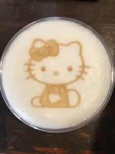 キティちゃんのラテアート